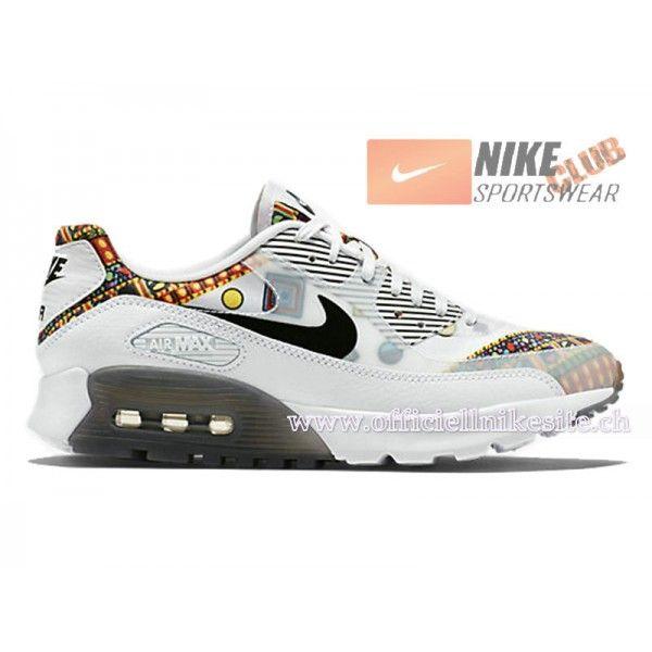 release date: 242e6 3e98f Nike Wmns Air Max 90 Liberty Ultra Essential 2015 Chaussures Nike LIB  Sportswear Pas Cher Pour Femme Blanc Noir 746632-100-Boutique de Chaussure  Nike France ...