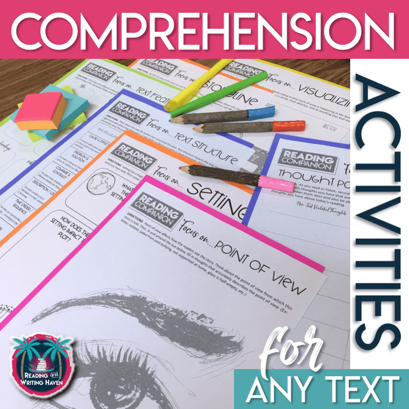 Reading Comprehension Worksheets for Any Text Digital