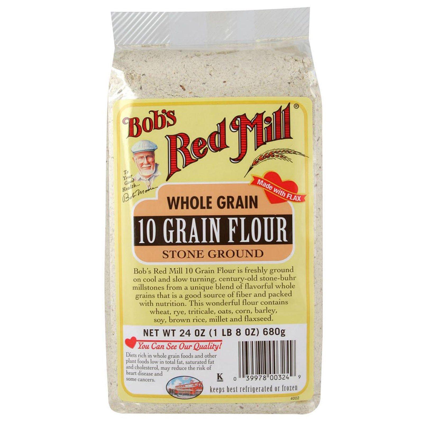 Bob's Red Mill, 10 Grain Flour, Whole Grain, 24 oz (680 g