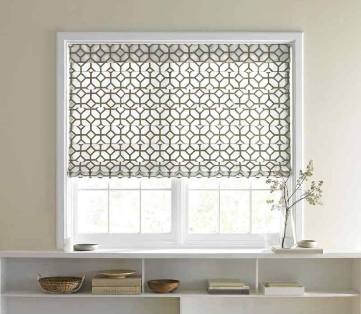 Fabric roman shades google search kitchen bathroom for Fabric shades for kitchen windows