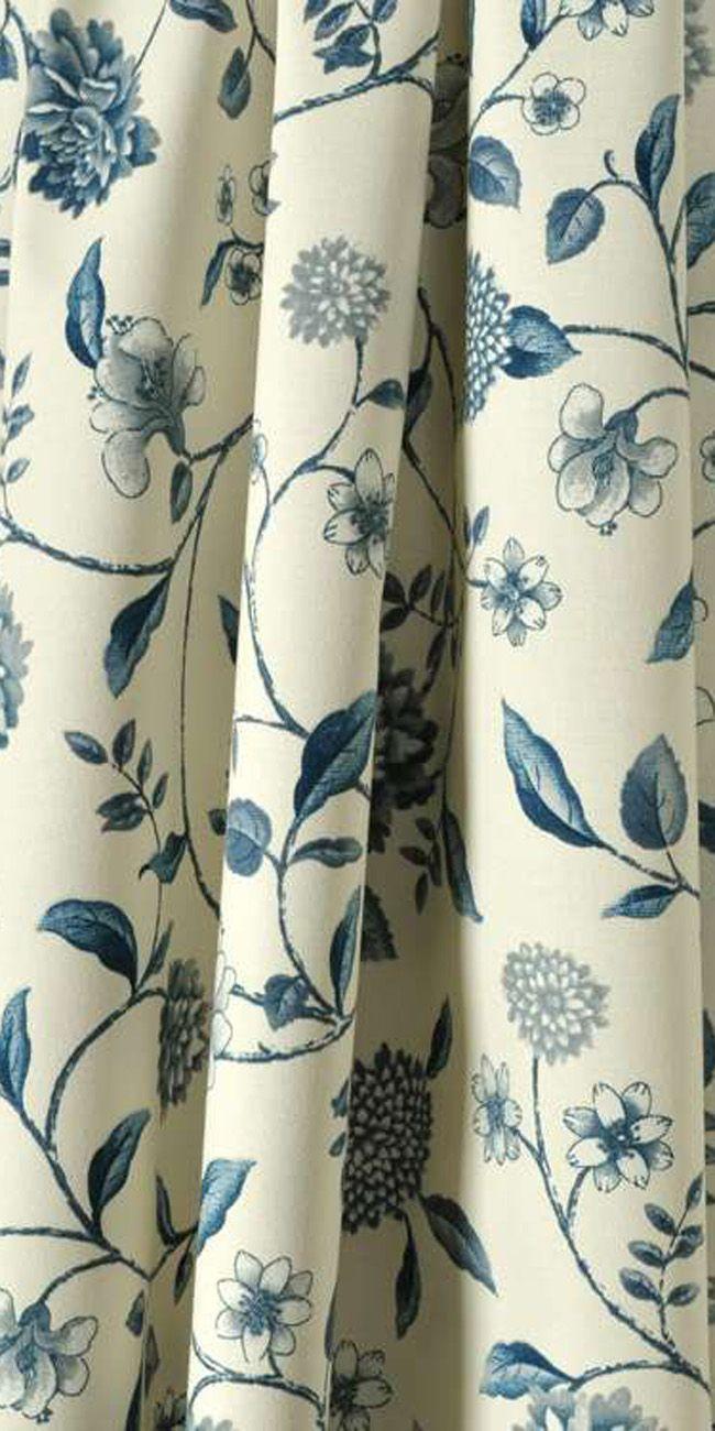 Waverly Nassau Vine Toile Porcelain Fabric Fabric Shower