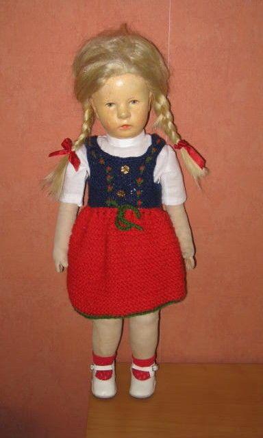 """Das """"Große Deutsche Kind"""" von Käthe Kruse aus den 1940er Jahren mit Stoffkopf   eBay"""