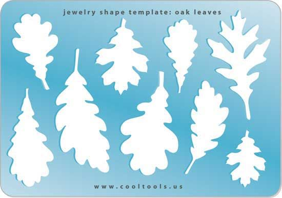 jewelry shape template oak leaves leaves pinterest shape