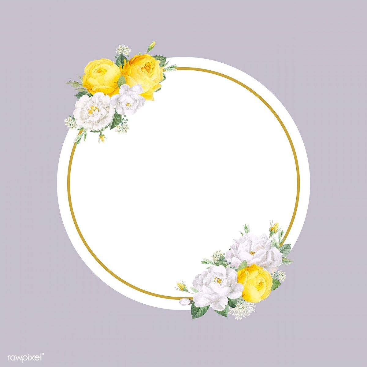 Download Premium Illustration Of Floral Wedding Invitation Mockup Floral Wedding Invitations Invitation Mockup Floral Border Design