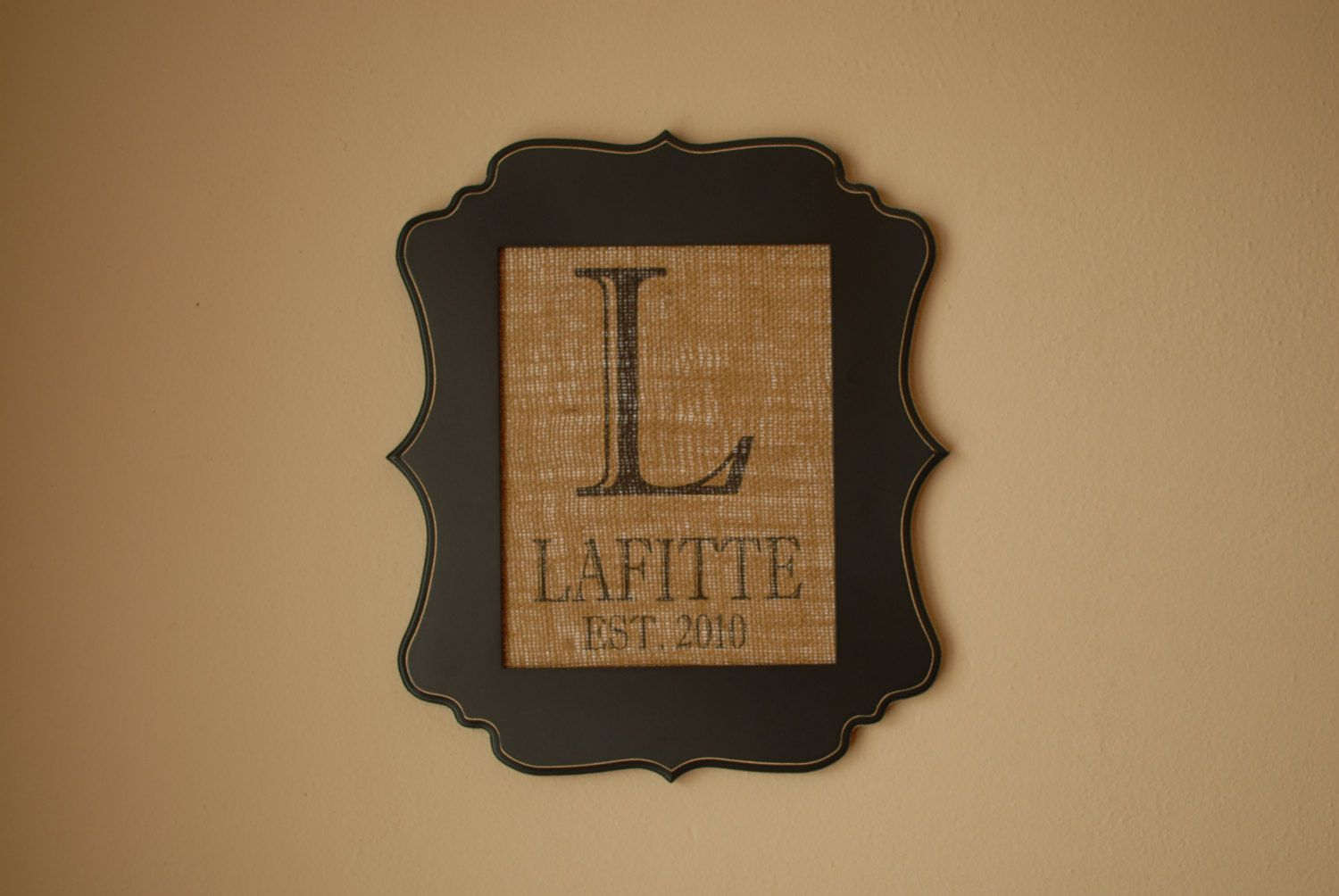 Personalized Burlap Print Custom Wall Sign by CloudlandCreations, $17.75