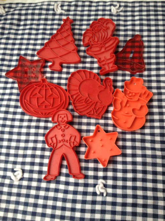 Set of Vintage Cookie Cutters or Sandwich Presses by lishyloo, $15.00