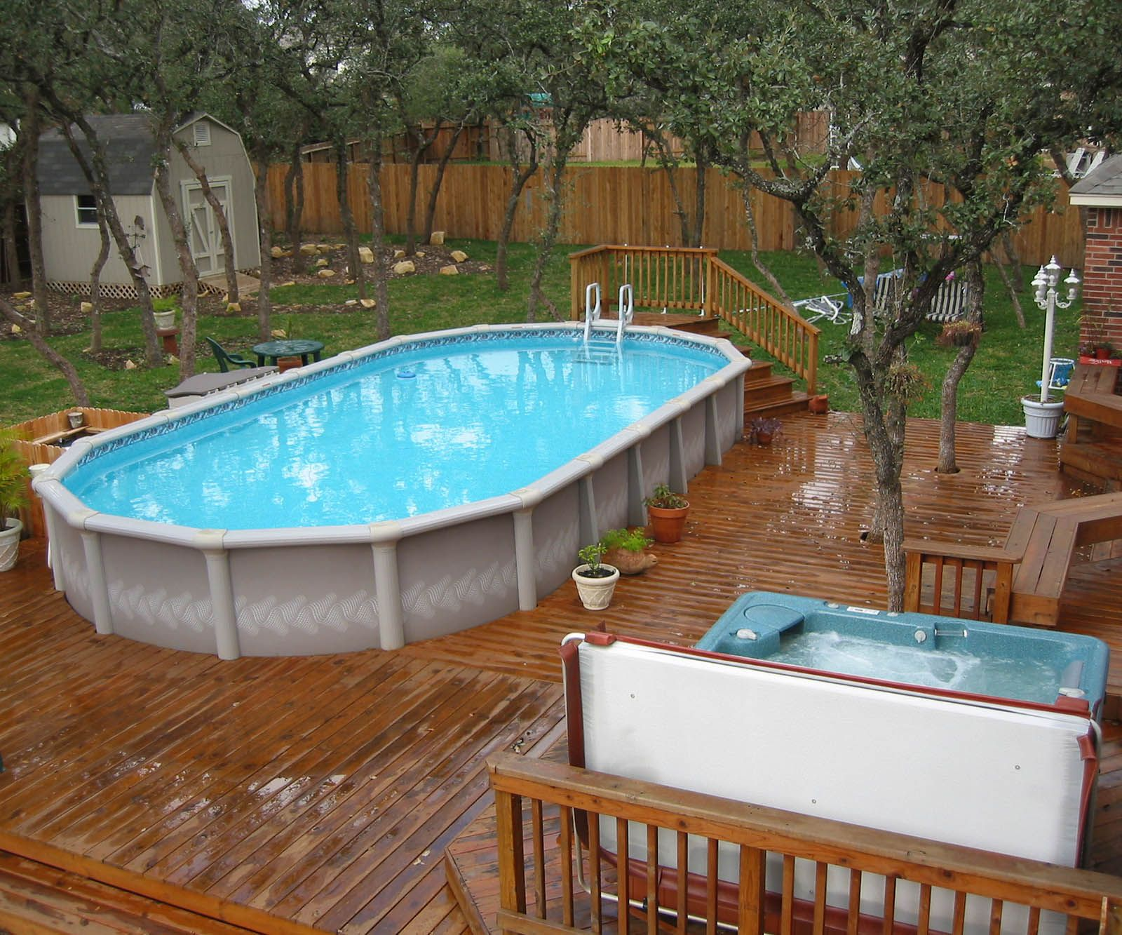 above ground pool deck ideas | Swimming pools backyard ...