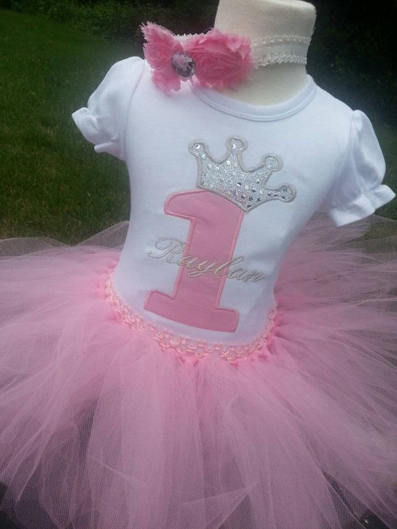 Baby Girls 1st Birthday Princess theme by LittleGraceBowtique