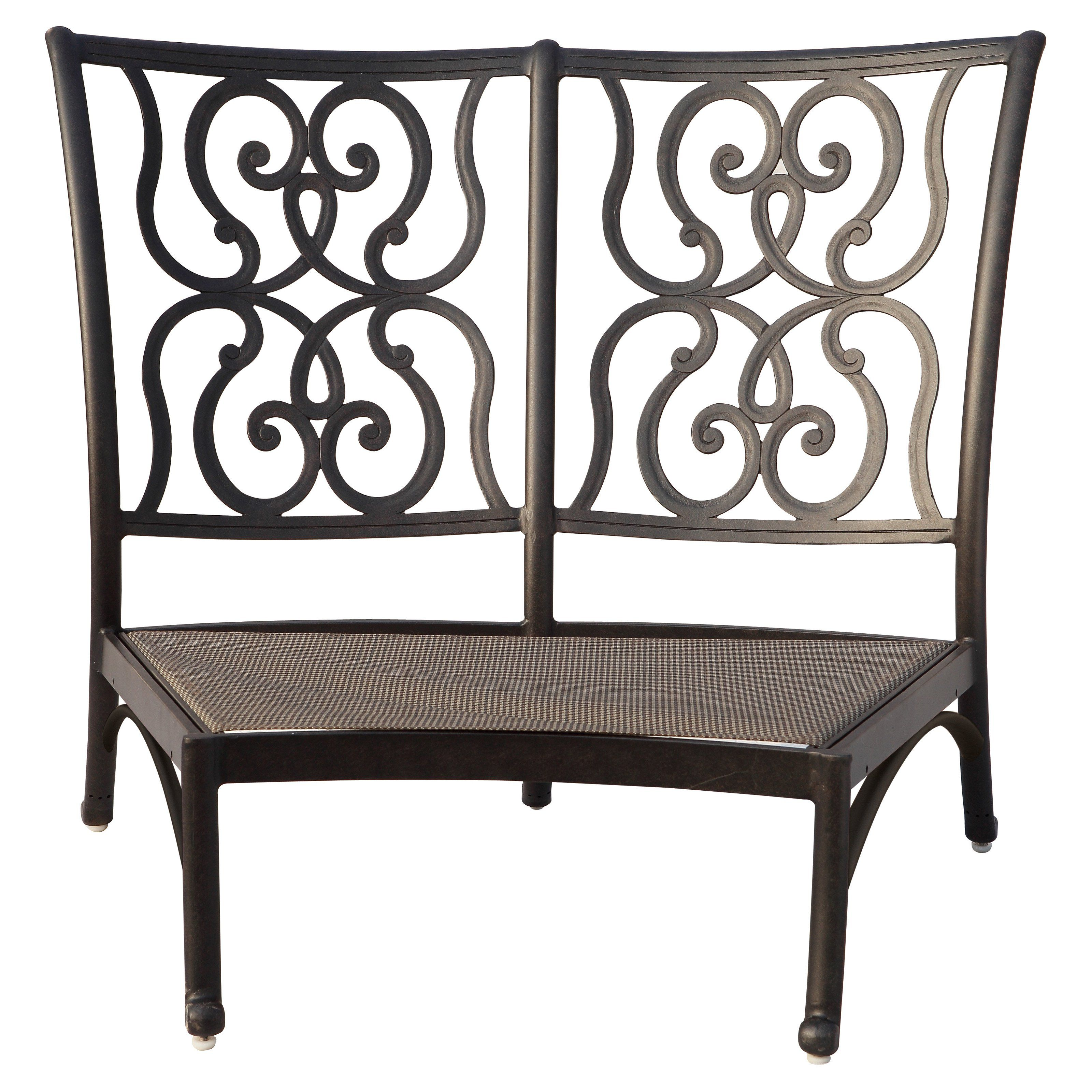 Outdoor Darlee Santa Anita Crescent Center Sectional Armless Patio Chair    301125 2/102