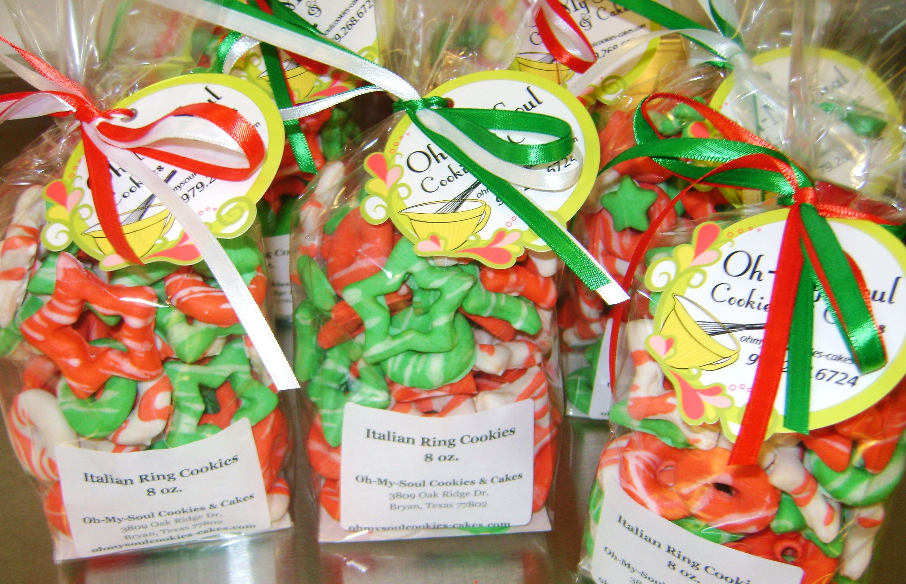 Holiday Cookies can be packaged in any size!  Give as a Gift or Serve at a Party!  The perfectly decorative sweet treat!  Shipping Available! http://shop.ohmysoulcookies-cakes.com/