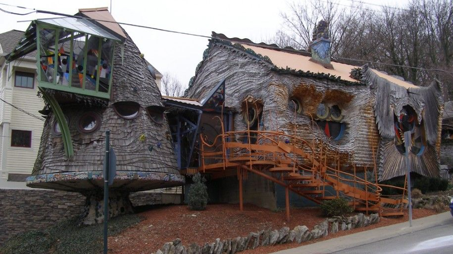 Exotic Homes Design : Good Exotic Home With Mushroom House, Ohio By Architect Terry Brown