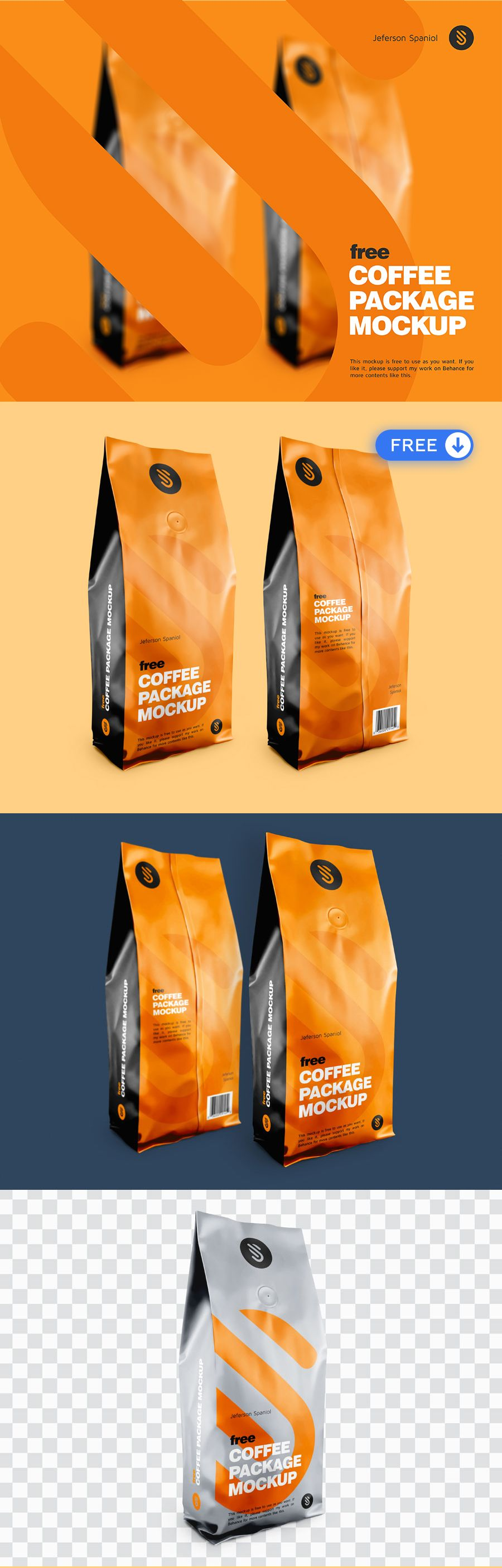 Download Free Coffee Packaging W Valve Mockup Free Coffee Free Packaging Mockup Bag Mockup