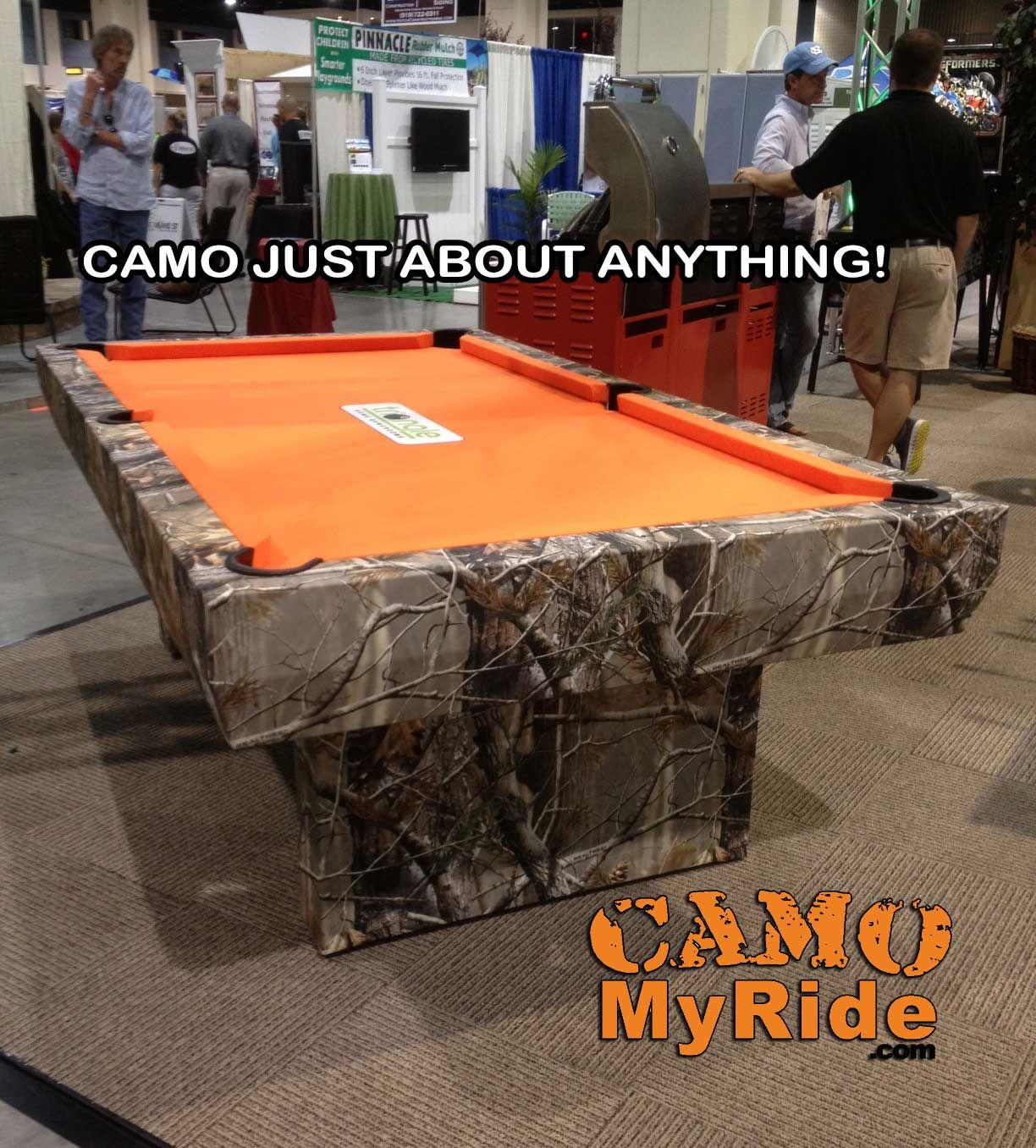 SO EASY TO DO Change ANYTHING With A Hard Sealed Surface Into Camo - Pool table wraps