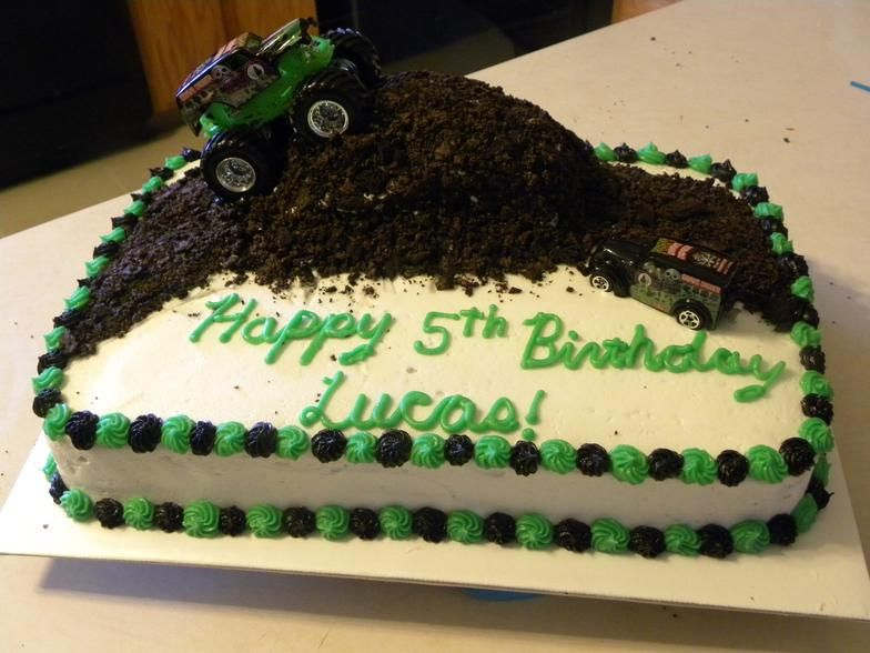 Sensational Grave Digger Cake Truck Birthday Cakes Monster Jam Birthday Party Funny Birthday Cards Online Alyptdamsfinfo