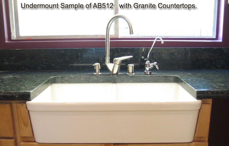 Alfi Brand Ab512 Double Bowl Fireclay 32 Farmhouse A Kitchen Sink At Bluebath