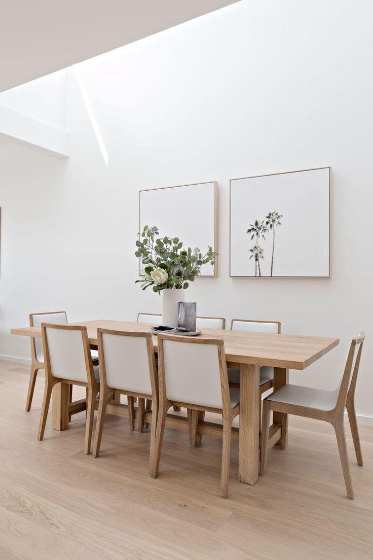 Light Wood Dinning Room Table Minimalist Dining Room White Dining Room Decor Dining Room Inspiration