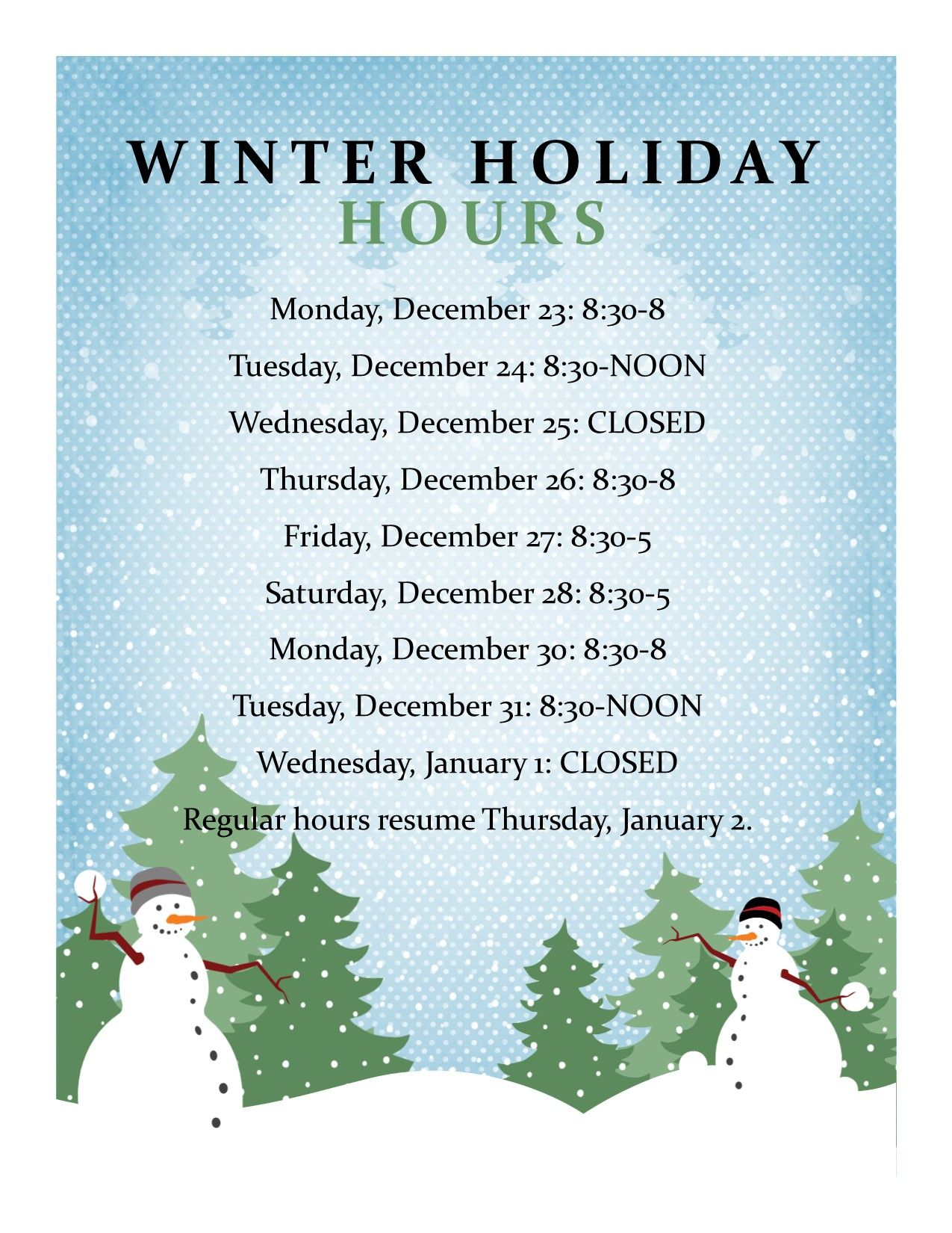 Free Templates For Business Closing For The Holiday Google Search Business Hours Sign Closed For Holidays Holiday Messages