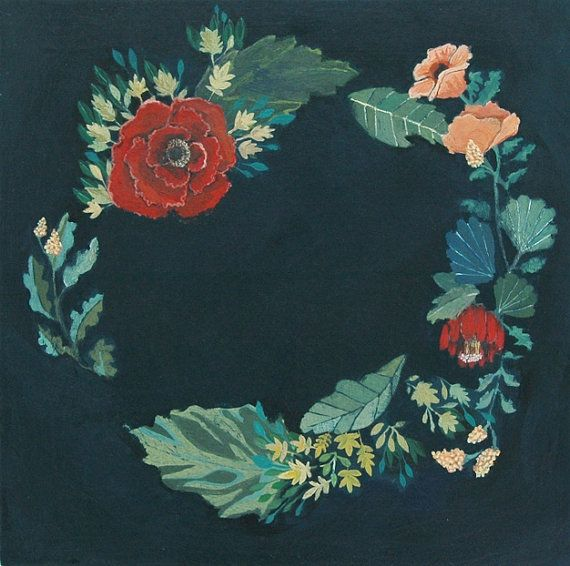 floral wreath original by britthermann on Etsy, $150.00