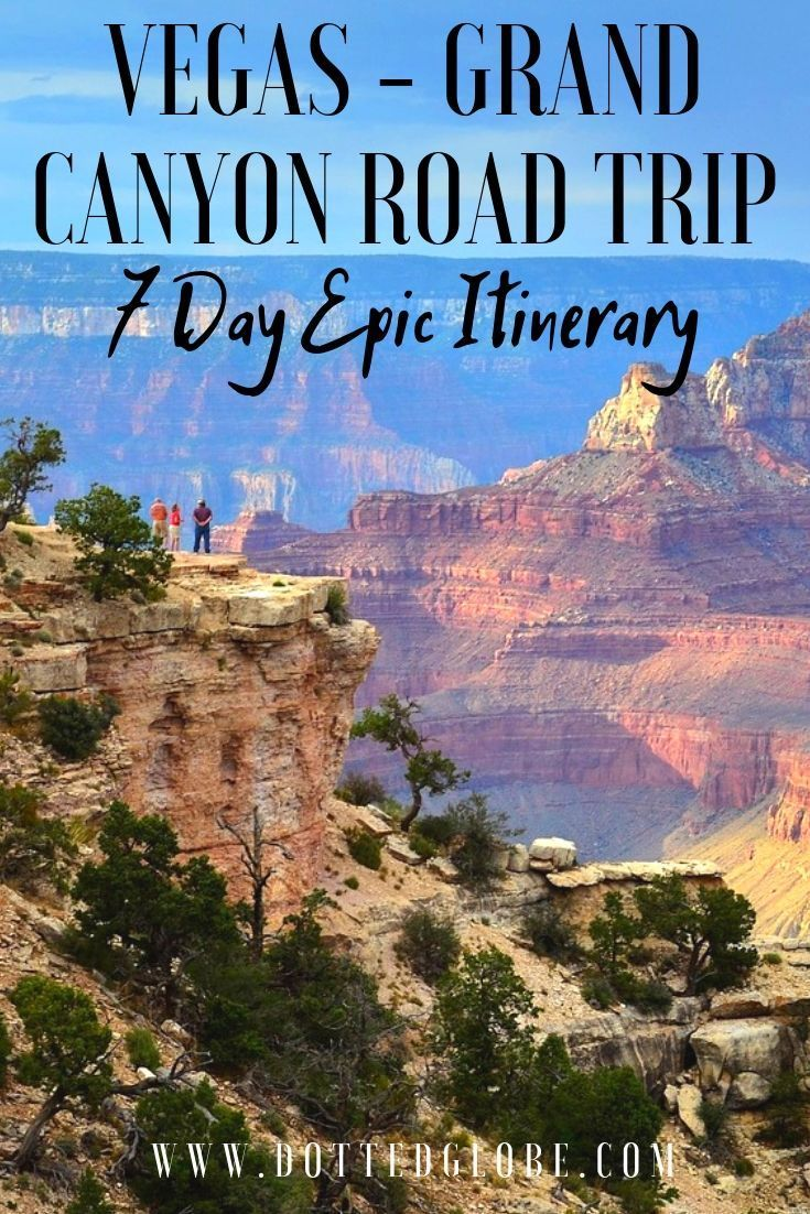 Zion Bryce Grand Canyon National Parks Road Trip - 7 Day Itinerary
