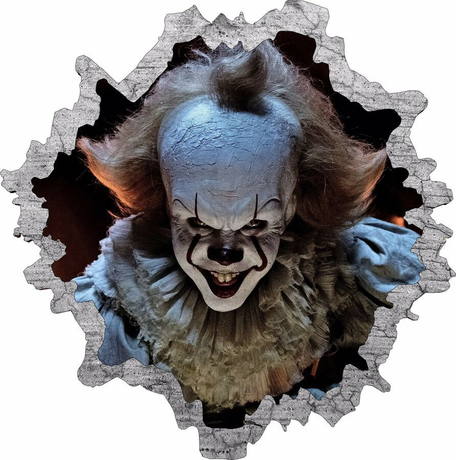 """PENNYWISE The Dancing Clown """"IT"""" Horror King Vinyl Decal Sticker Window Car Wall"""