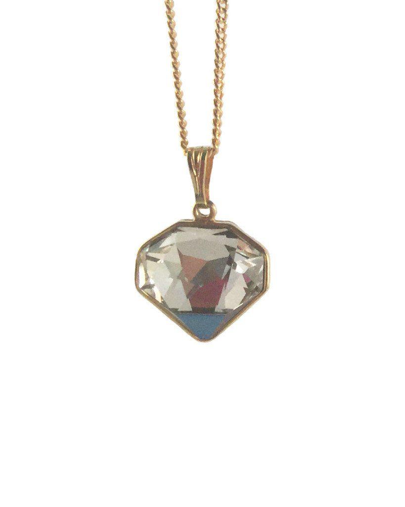 Shine like a diamond necklace in bermuda blue diamond and shopping