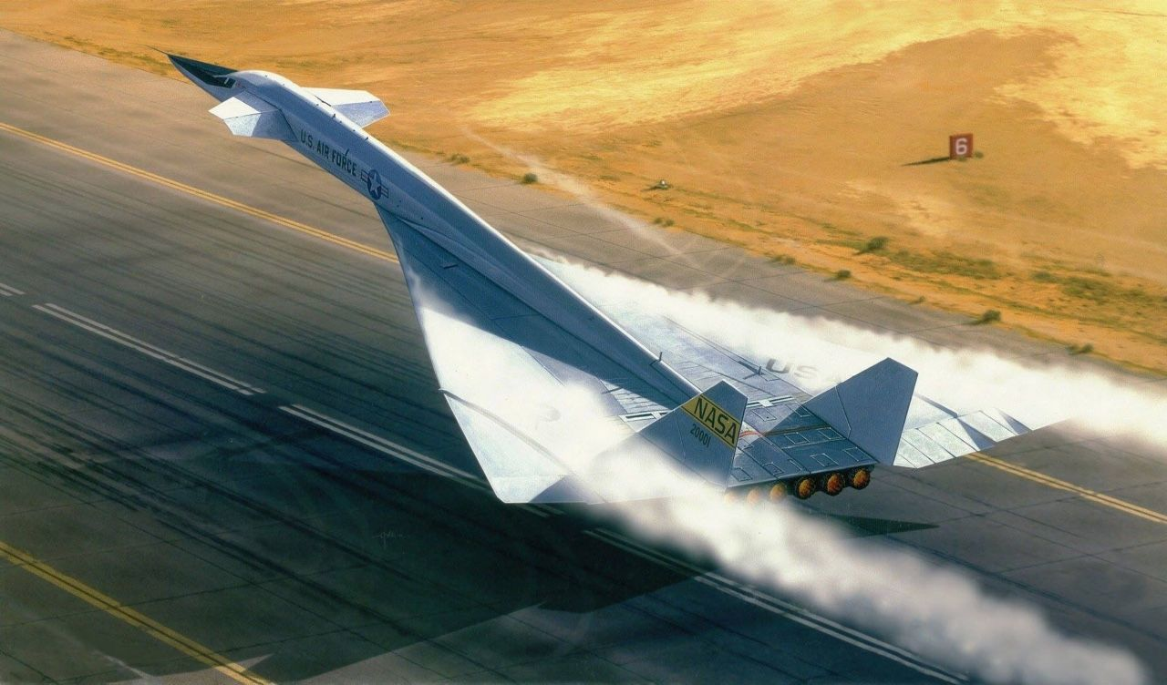Full Afterburner Photo XB70 Aircraft art, Fighter
