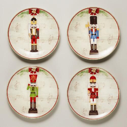 One of my favorite discoveries at WorldMarket.com Nutcracker Plates Set of 4 & One of my favorite discoveries at WorldMarket.com: Nutcracker Plates ...