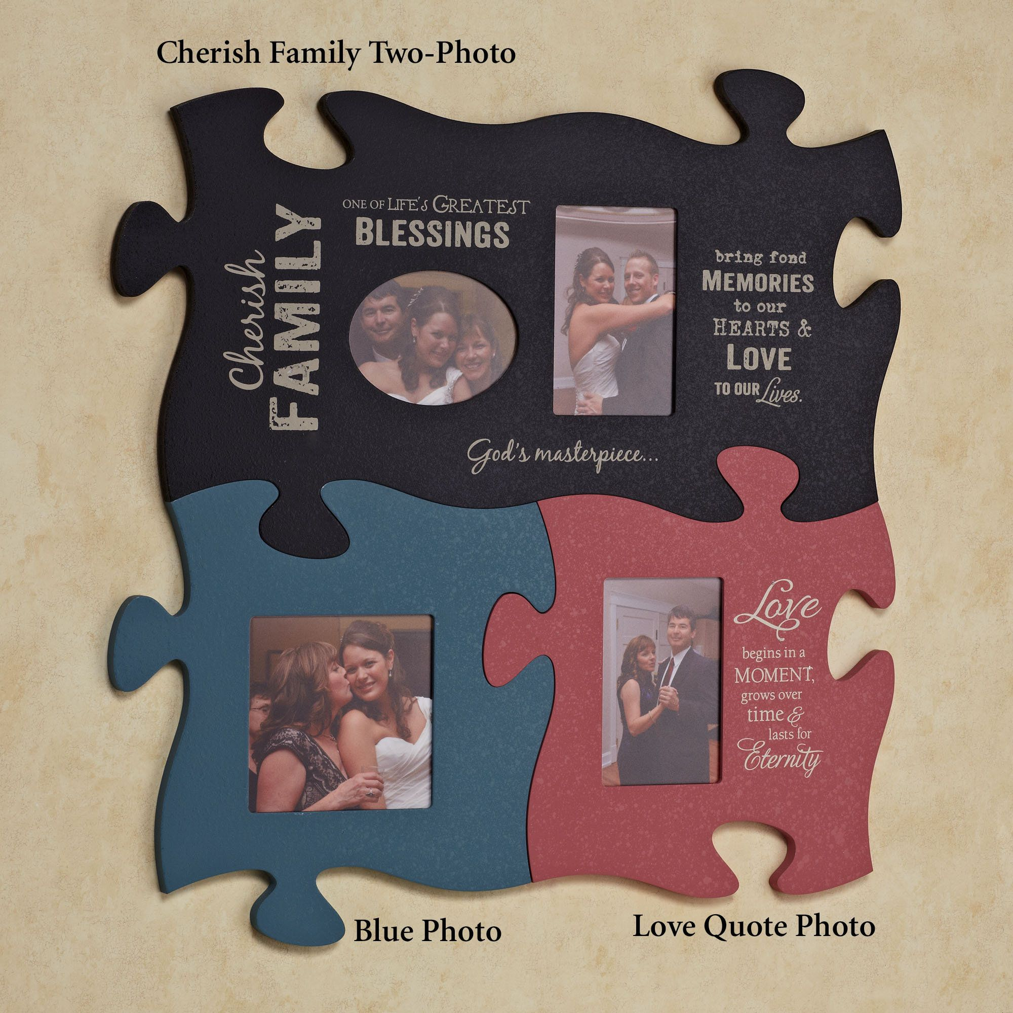 Puzzle Piece Wall Decor cherish family photo frame puzzle piece wall art | puzzle pieces