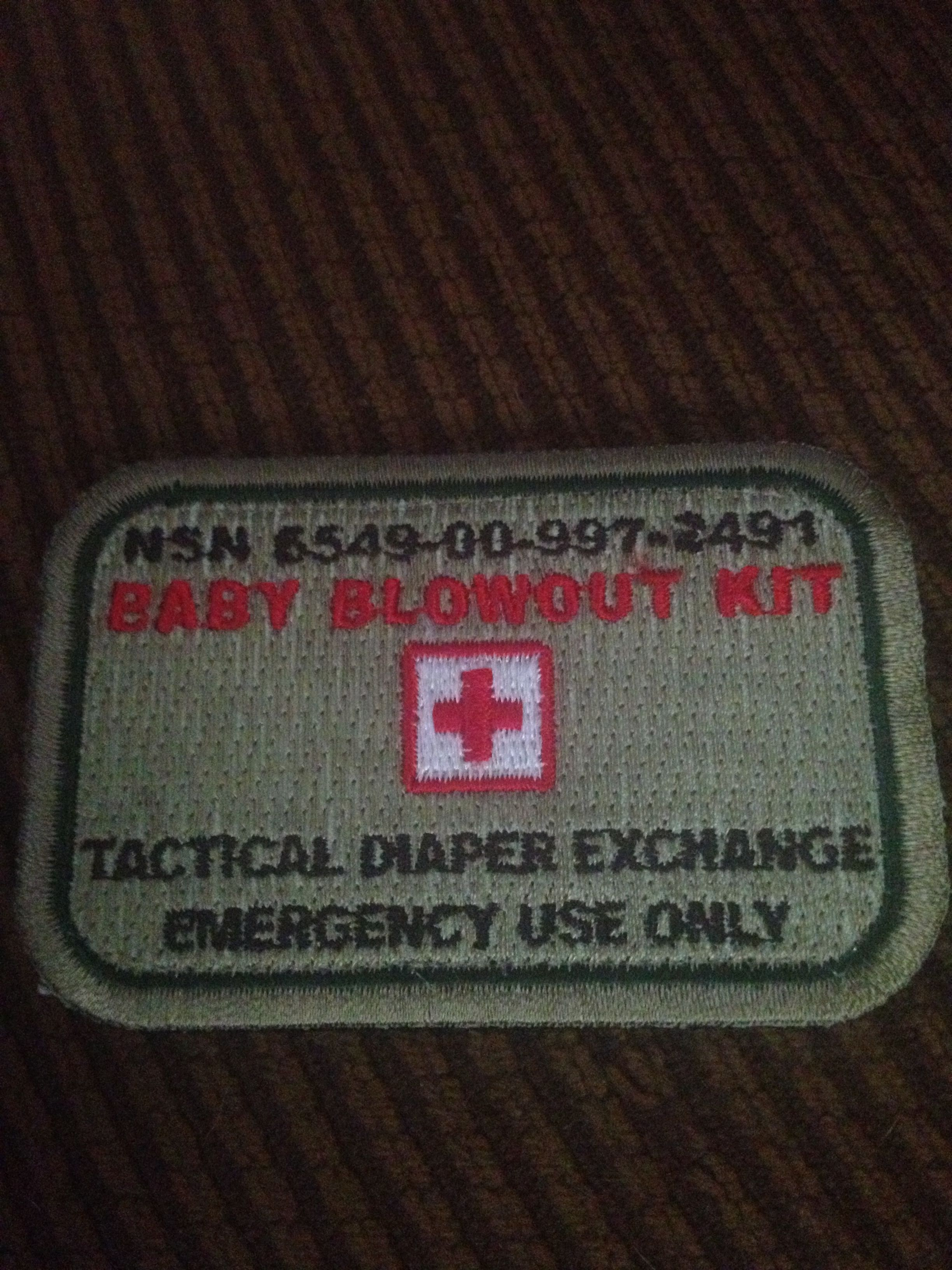 New patch for my tactical diaper bag!  dbb31e87d43