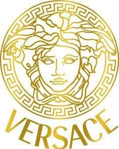 Versace medusa head logo button luxury brand designer gold 25 mm round
