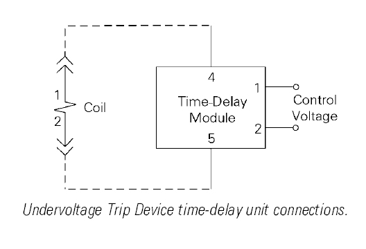 Circuit Breaker Undervoltage Trip W Time Delay Diagram Circuit Breakers Electrical Switches