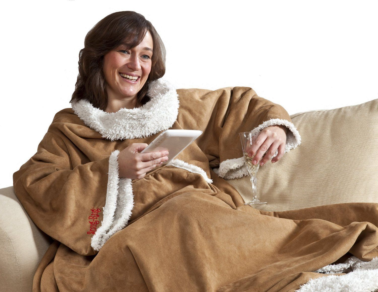 Snug Rug Blanket with Sleeves