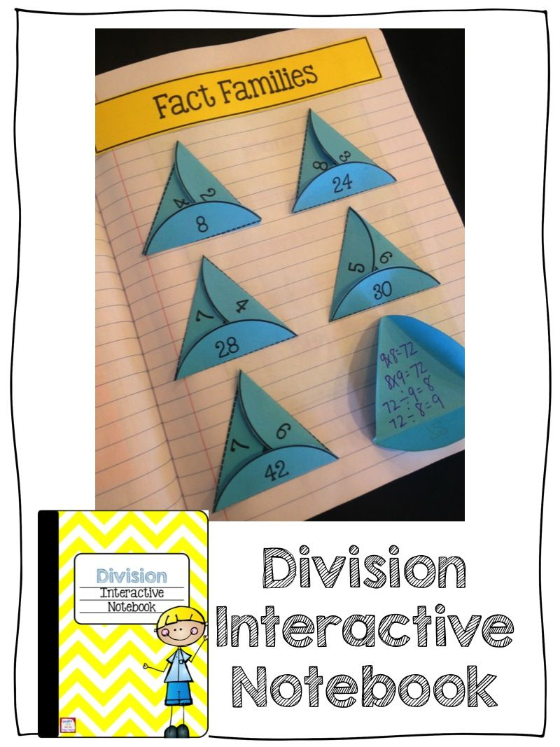 Division Interactive Notebook | Pinterest | Division, Math and School
