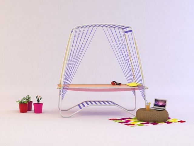 transamac Stahl-garten hängematte-für innen massagebett home - hangematten fur terrasse garten sommerliches flair