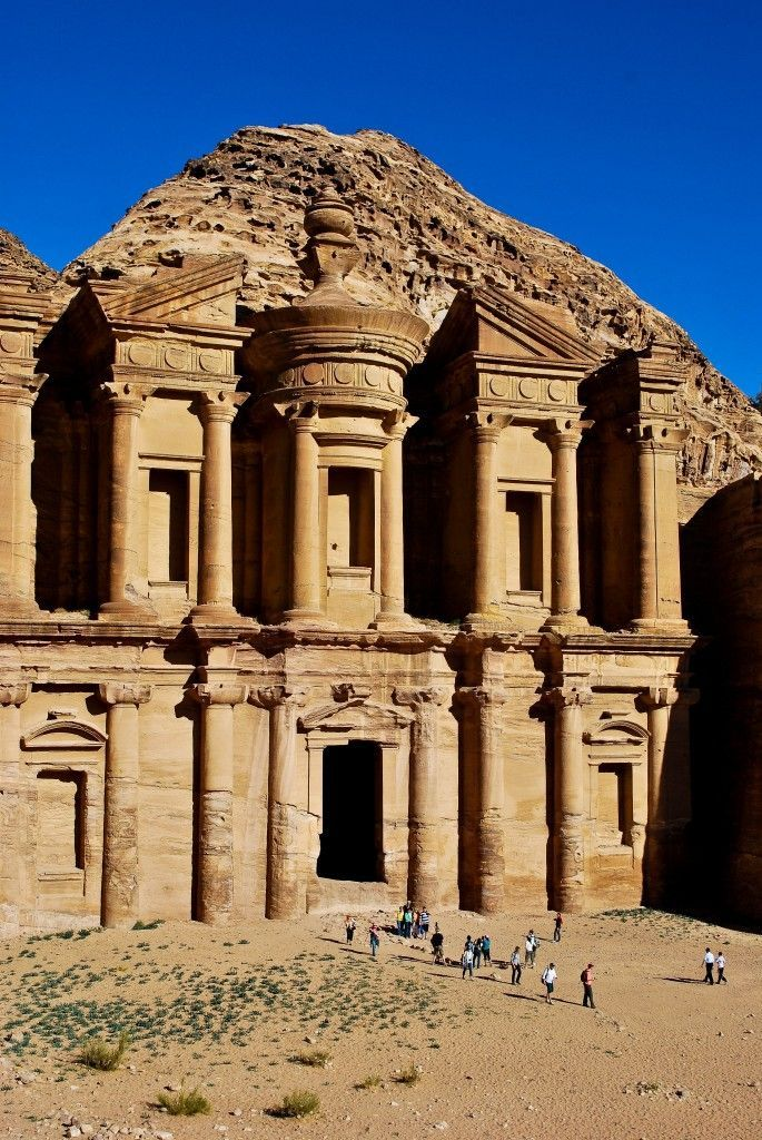 The Monastery, Petra, Jordan - Situated between the Red Sea and the Dead Sea, this vast ancient city was quite literally carved into the dusky-pink rock face