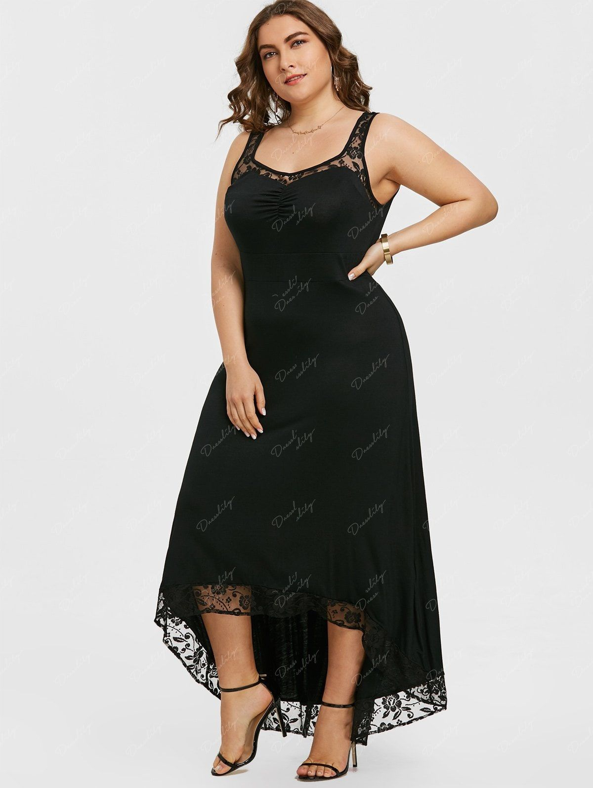 47c55b462c35 High Low Plus Size Party Maxi Dress -  fall dresses to wear to a wedding