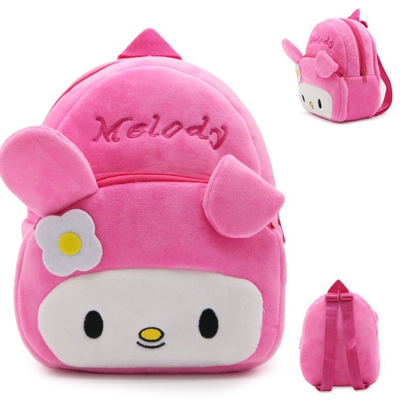 253178d1652f Pink Cartoon Kids Plush Backpacks Melody Mini Schoolbag Kitty Rabbit Cute  Backpacks Children School Bags Girls Boys Backpack