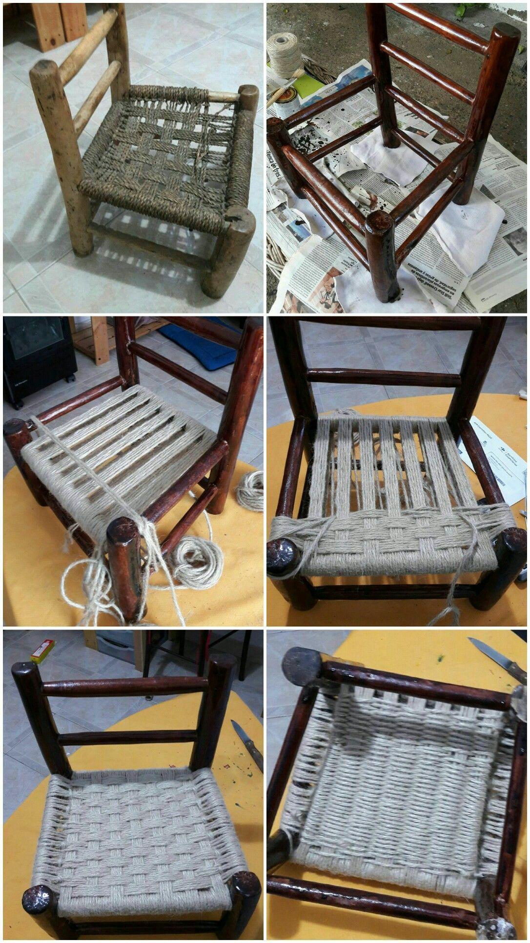 Resultado De Imagen De Rempaillage Chaise Avec Tissu Salvabrani Reparacion De Sillas Reparacion De Muebles Muebles De Bricolaje