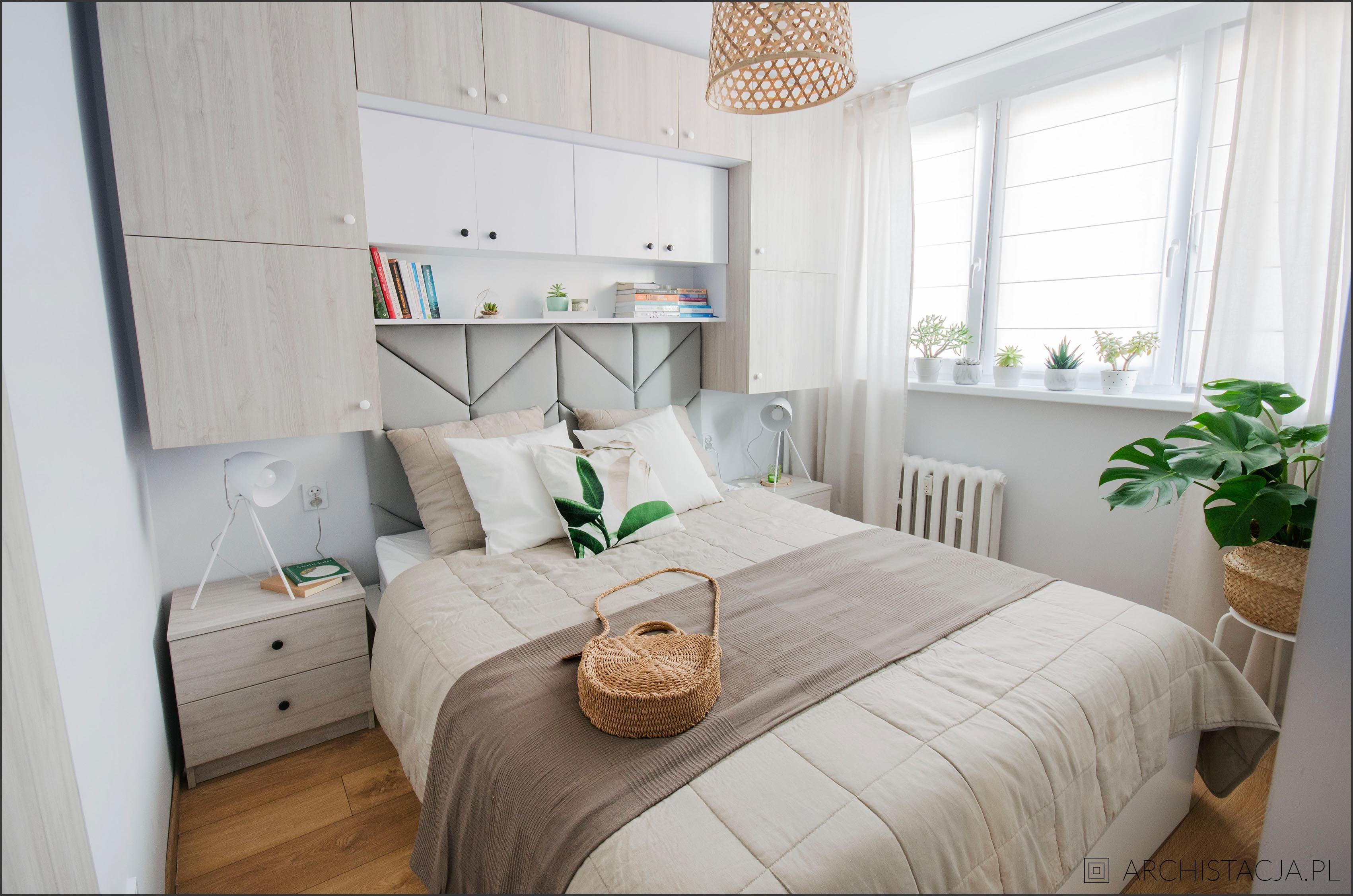 Mała Sypialnia W Bloku Wnętrza In 2019 Bedroom Room Bed