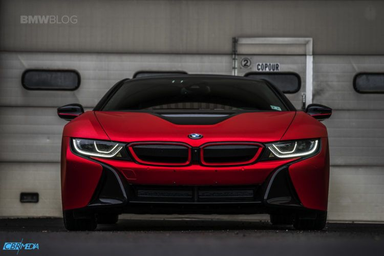 One Of A Kind Bmw I8 In Frozen Red Satin Conform Chrome Bmw