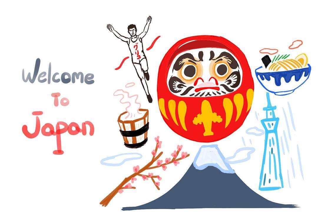 Welcom to Japan Concept Design. 올해는 일본 꼭 가길 #practice #drawing #digitalpainting #surfacepro2 #sketchbookpro #드로잉 #연습 #스케치북프로 #illust #illustagram #그림스타그램 #라멘 #도쿄스카이트리 #후지산 #글리코맨 #온천 #다루마 #ramen #skytree #glicoman #fujimountain #daruma