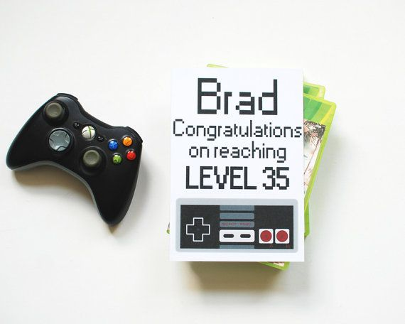 Personalised Birthday Card For Gamer Congratulations On
