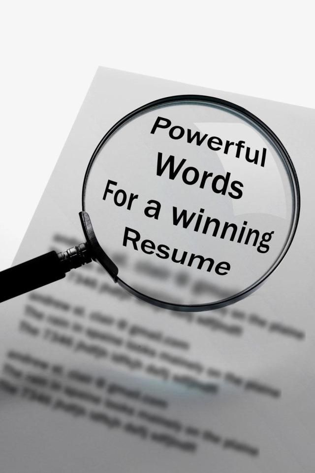 comprehensive list of the best power words to include in a resume