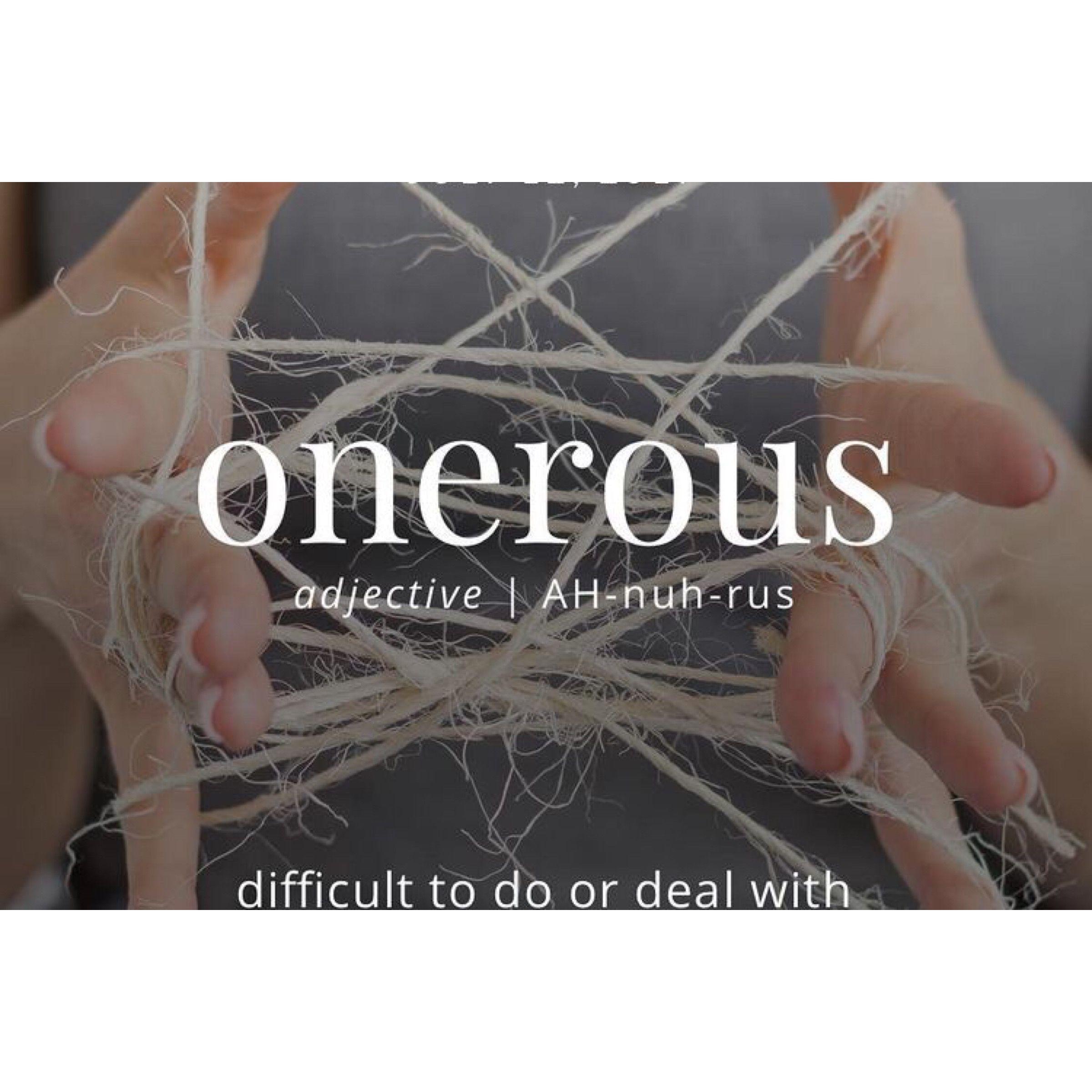 Onerous Definition