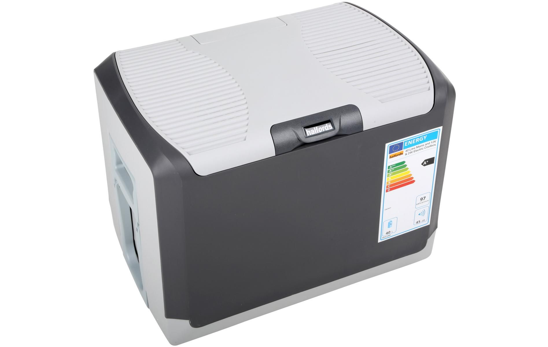 Halfords 40 Litre Mains And 12v 24v Electric Coolbox Halfords Uk Cable Storage Electricity Cleaning Wipes