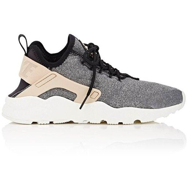 cheaper 5e932 0310a Nike Women s Air Huarache Run Premium Sneakers ( 120) ❤ liked on Polyvore  featuring shoes, sneakers, black, lace up shoes, rubber sole shoes, ...
