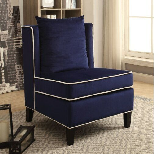 Clawson Wingback Chair Blue Accent Chairs Armless