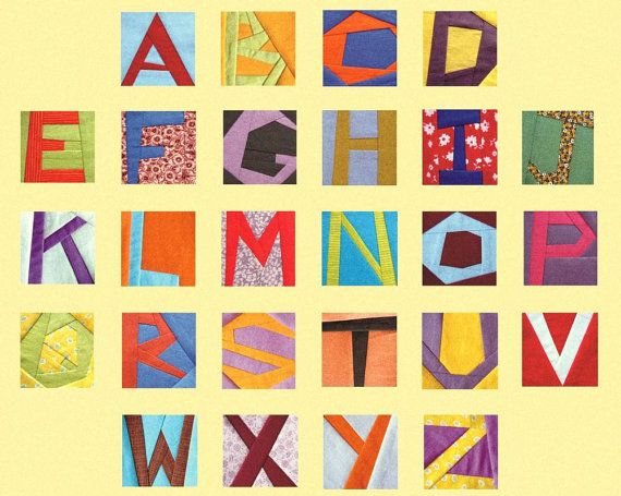 Paper piecing quilt alphabet letters paper foundation 5\
