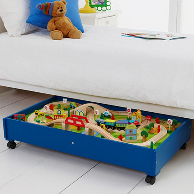 Young Ones Wooden Under Bed Train Table