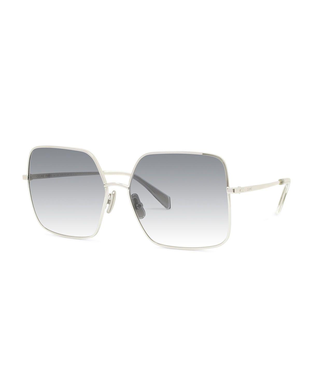 fe28d81c9b12 Celine Square Gradient Metal Sunglasses   Sunglasses   Sunglasses ...